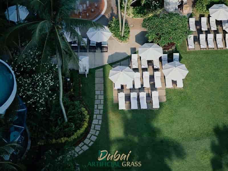 Modern Hotel artificial grass installation