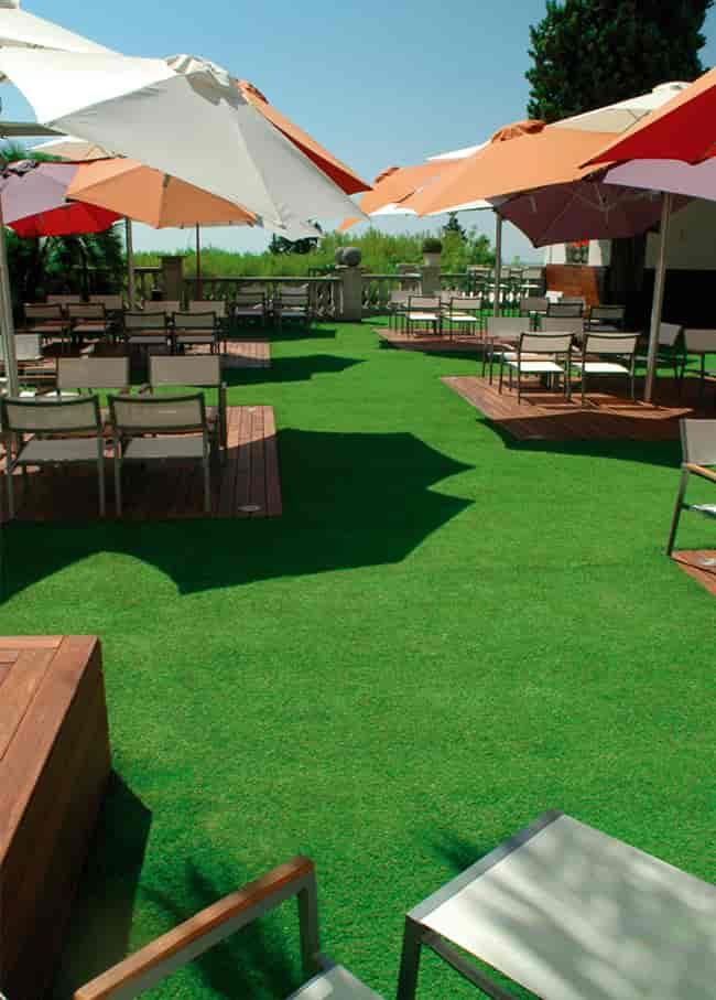 hotel artificial grass