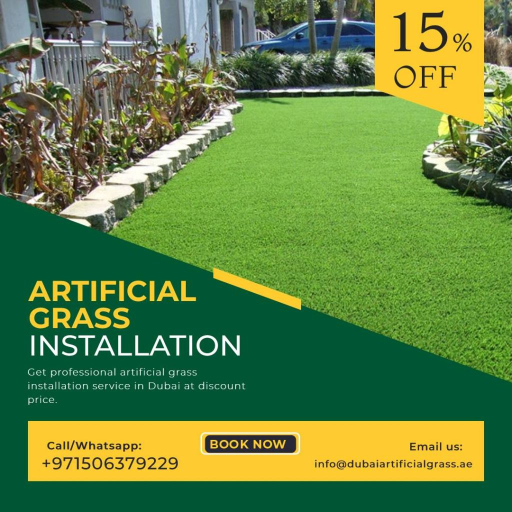 Artificial grass installation Service in Dubai