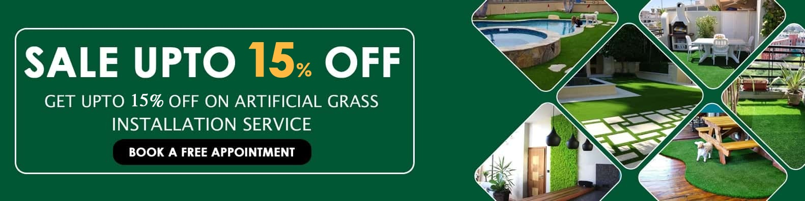 artificial grass installation service at discount price