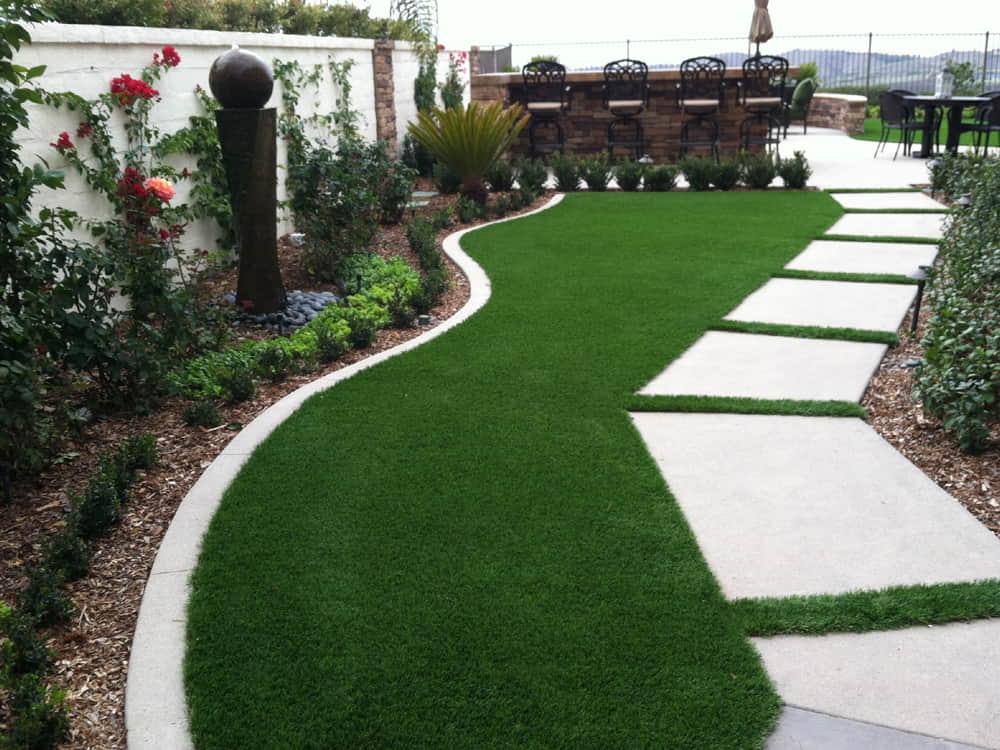Landscaping with artificial grass Dubai
